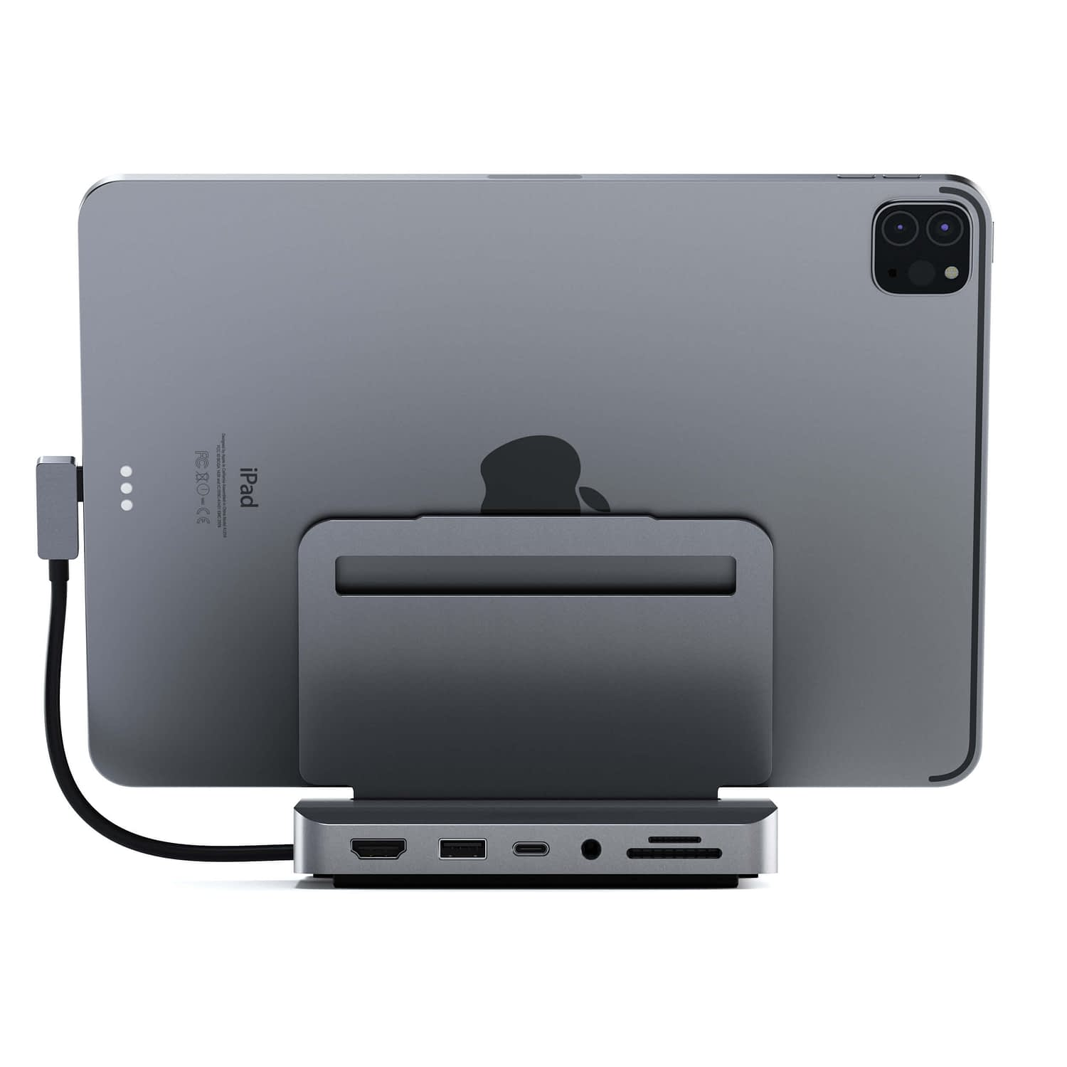 Satechi Aluminum Stand Hub for iPad Pro space gray_06